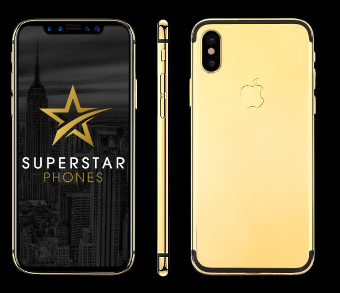 iPhone X 24Kt Gold